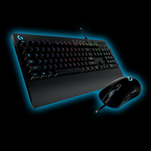 2fc3b52d431 Logitech Prodigy G403 gaming mouse and G213 gaming keyboard combo with 16.8  million lighting colors