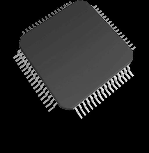 A closeup shot of the ARM Cortex processor