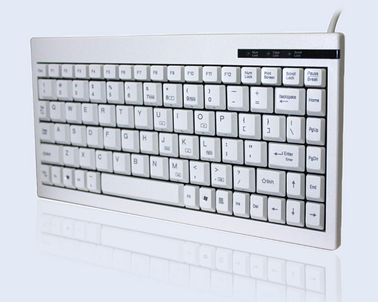 ACK-595PW - Mini Keyboard with Embedded Numeric Keypad (PS/2, White)