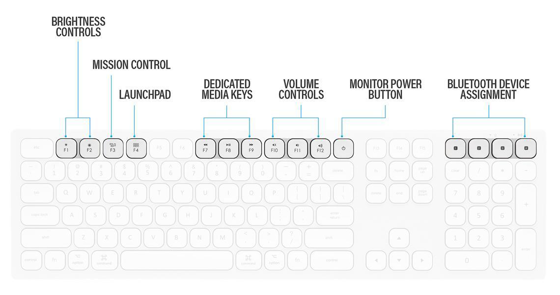 All multimedia shortcuts are marked out