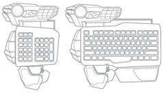 Mad Catz S.T.R.I.K.E. 5 Gaming Keyboard for PC - Modular Configuration A