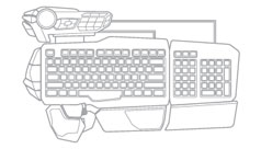 Mad Catz S.T.R.I.K.E. 5 Gaming Keyboard for PC - Modular Configuration C