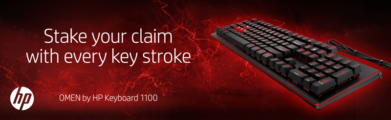 OMEN by HP Keyboard 1100 Mechanical Gaming Keyboard with Blue Switches, Red  Backlit LED - Newegg com