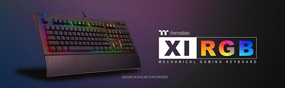58f1b9f394e Thermaltake TT Premium X1 RGB Cherry MX Sliver Keyboard - Newegg.com