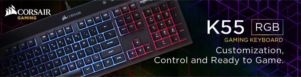 Corsair Certified CH-9206015-NA K55 RGB Gaming Keyboard - Newegg com