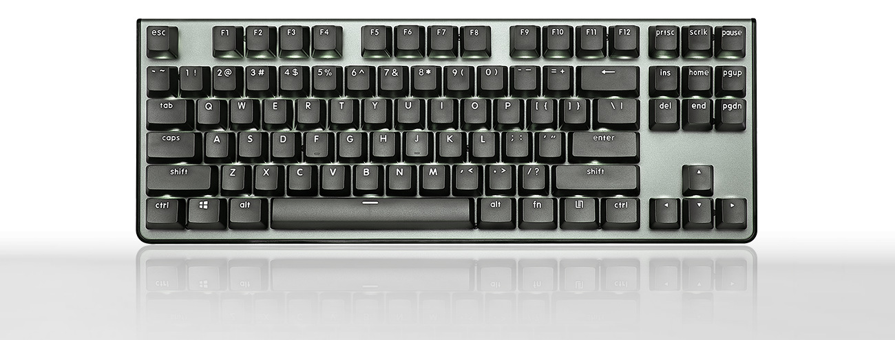 a black keyboard with a backlighting