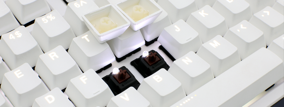 PBT Double-ShotSeamless keycaps