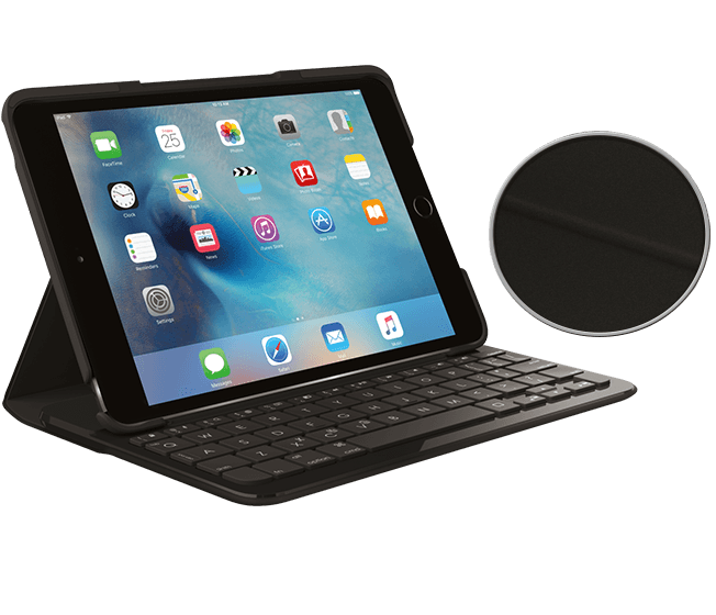 Case with integrated Bluetooth keyboard for iPad Mini 4