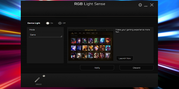 Game Sync Option Screen