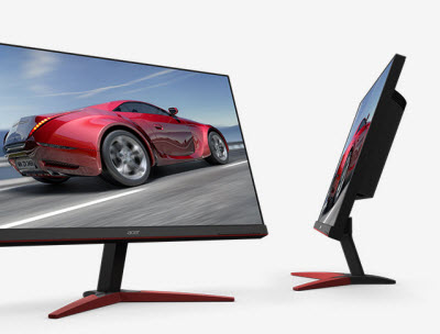 the front and side views of Acer KG281K bmiipx monitors