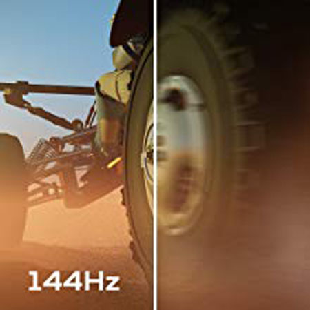 a visual comparison between 144Hz and 60Hz