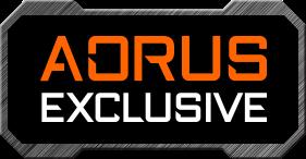 AORUS EXCLUSIVE badge