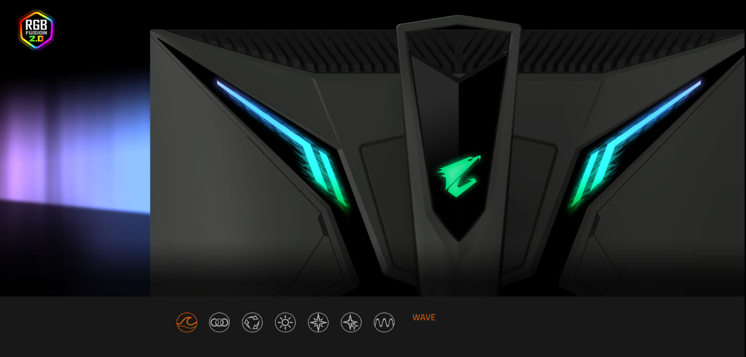 back of the GIGABYTE AORUS Monitor