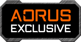 AORUS EXCLUSIVE badge