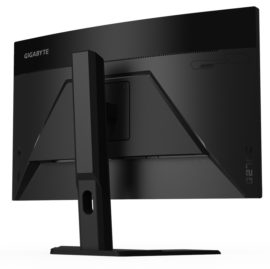 Rear view of Gigabyte G27QC