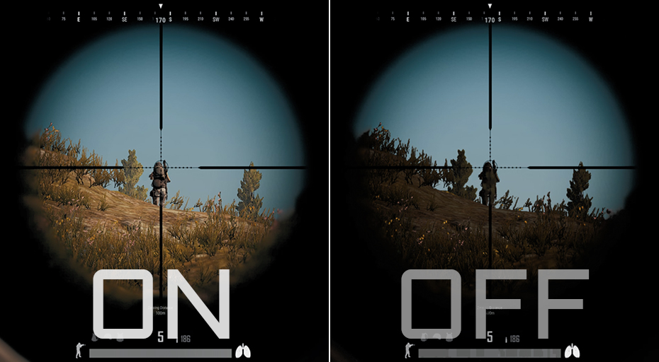 Difference between Black Equalizer on and off