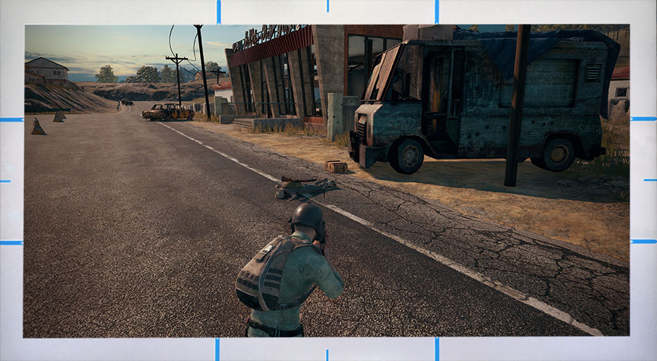 The display alignment function when play PUBG