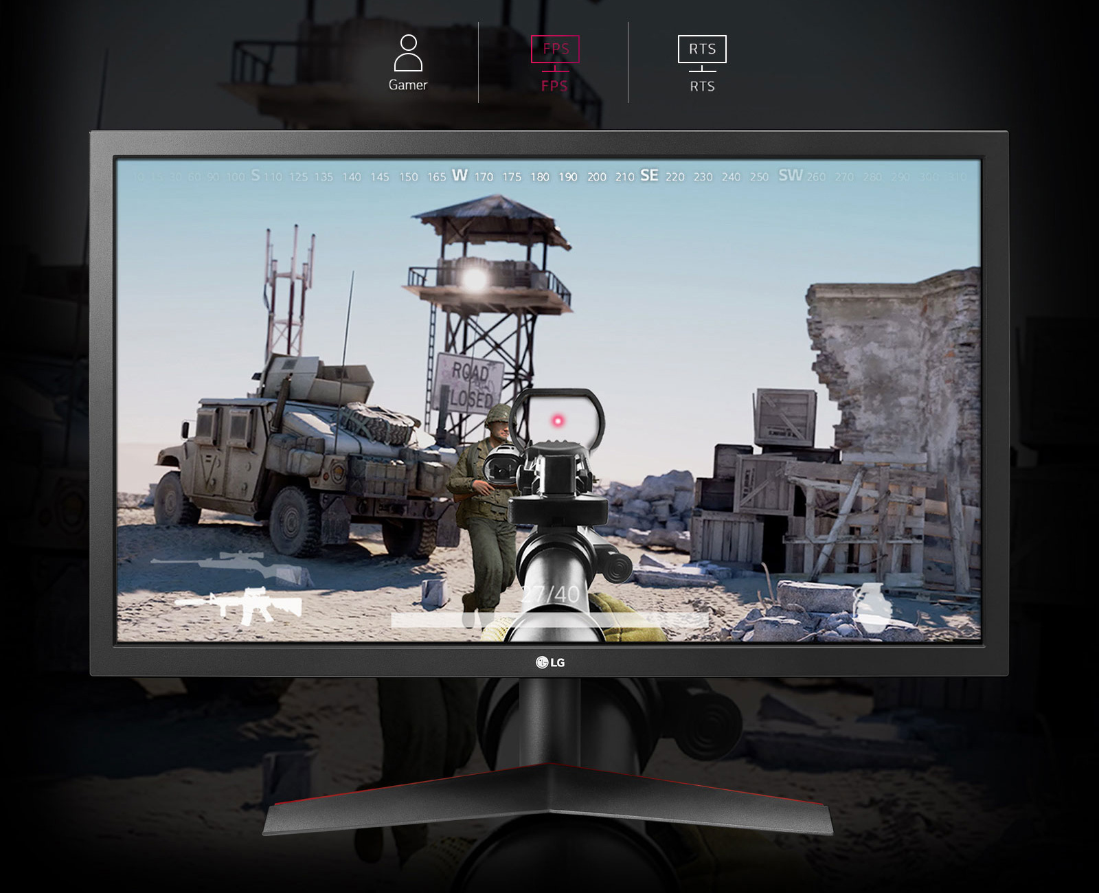 a shooting game screenshot of monitor