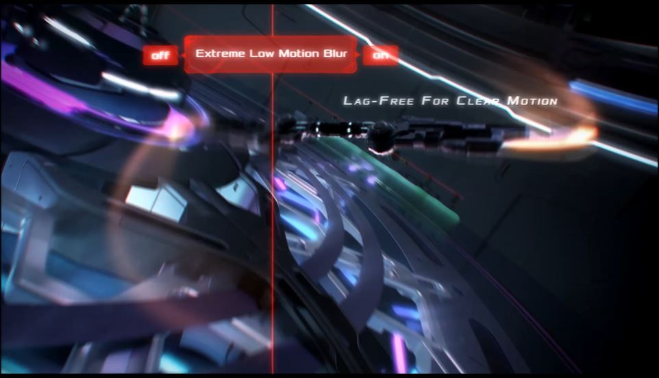 Lightning-fast 1ms (MPRT) response time with ASUS Extreme Low Motion Blur