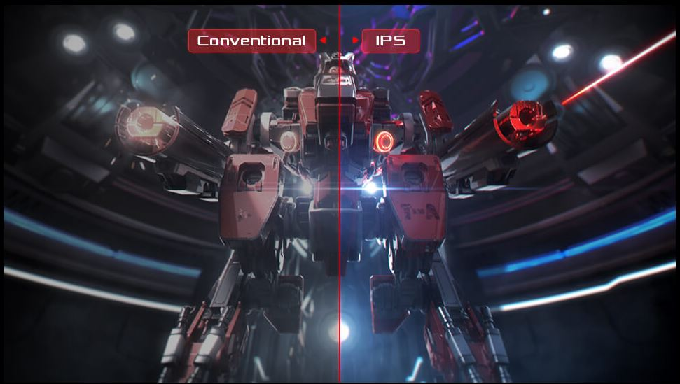 IPS technology for consistent, accurate color
