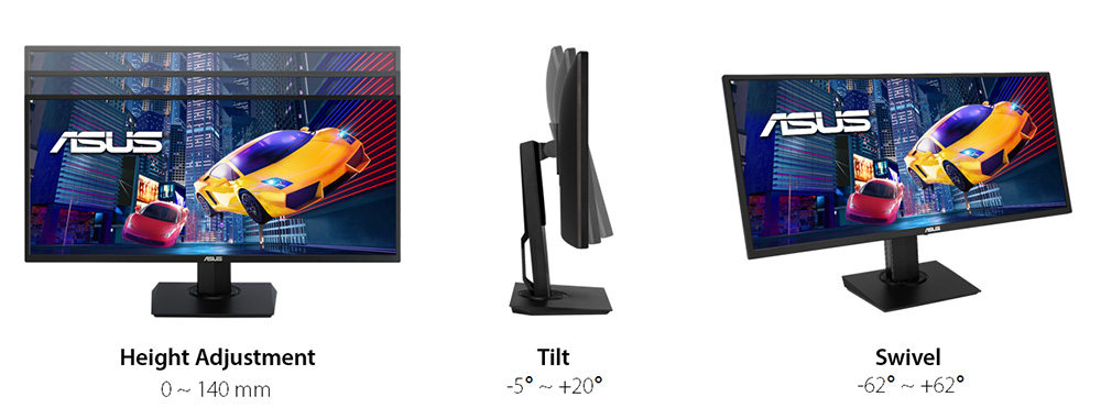 different angles of the monitor