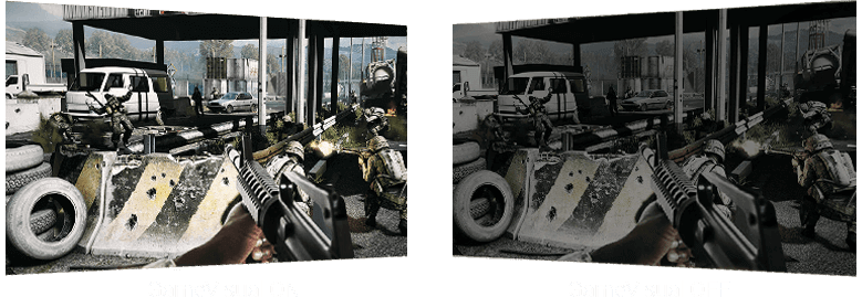 game_fps, first view shooting images in different bright