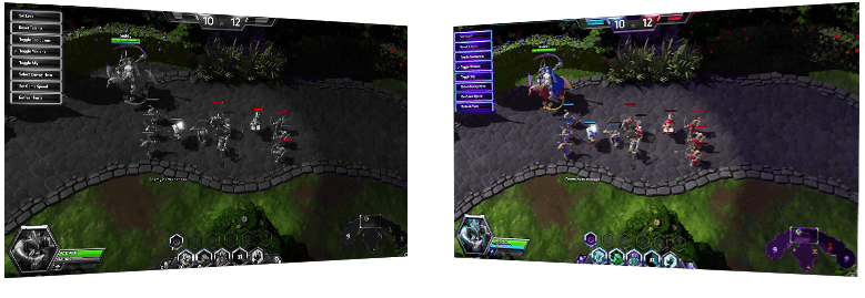 game_moba, two images to show different between GameVisual on and off