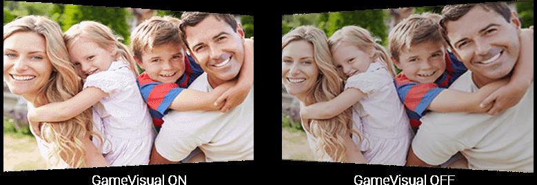 game_srgb, a family photo as screen