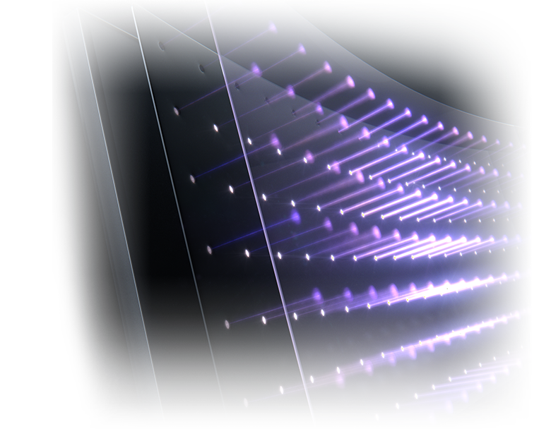 detail of the LED backlighting of monitor