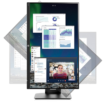 HP 24 inch Full HD Monitor with Tilt Height Adjustment and Built-in Speakers New