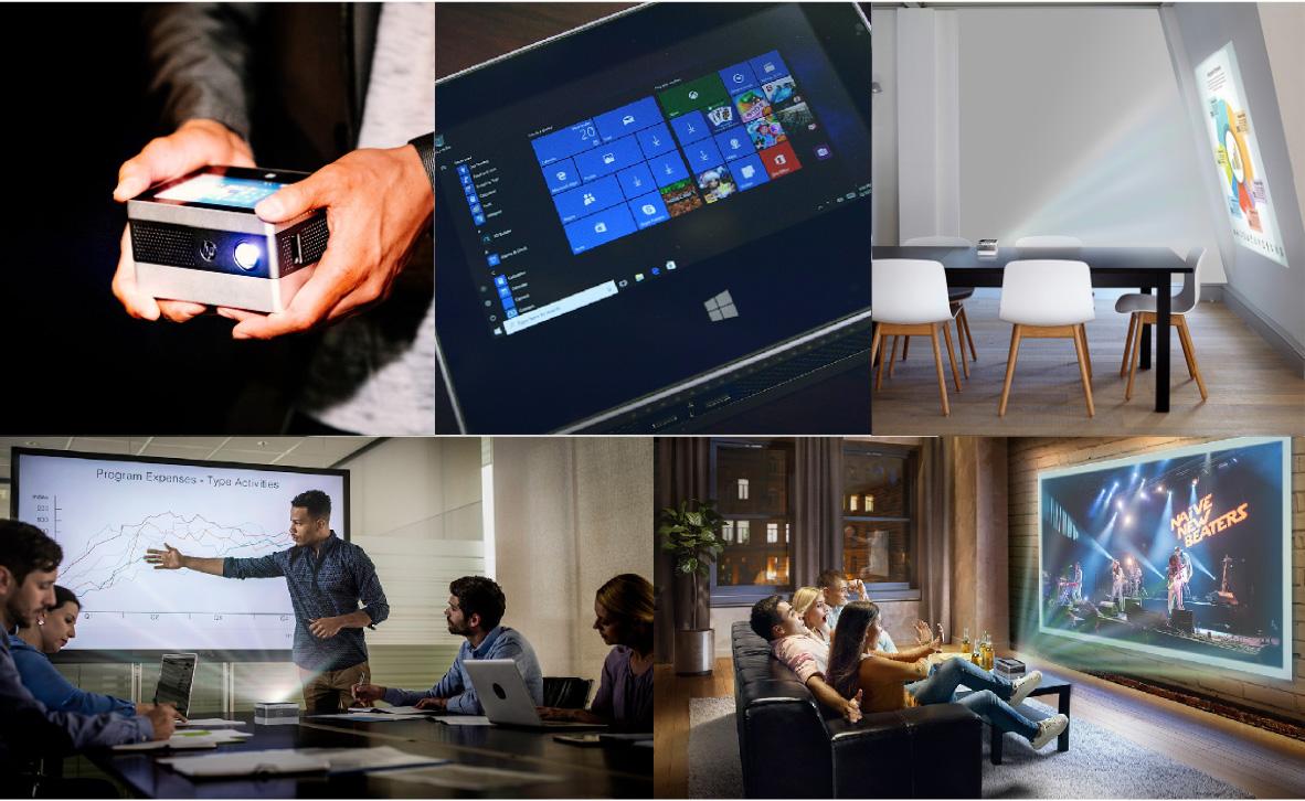 內部使用HP IP400投影儀的不同鏡頭
