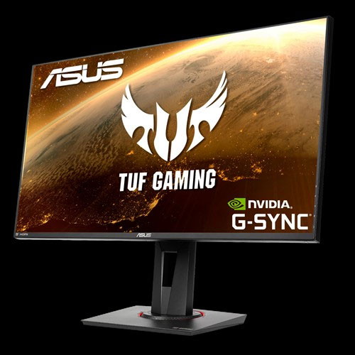 TUF Gaming Monitor with a space image as screen