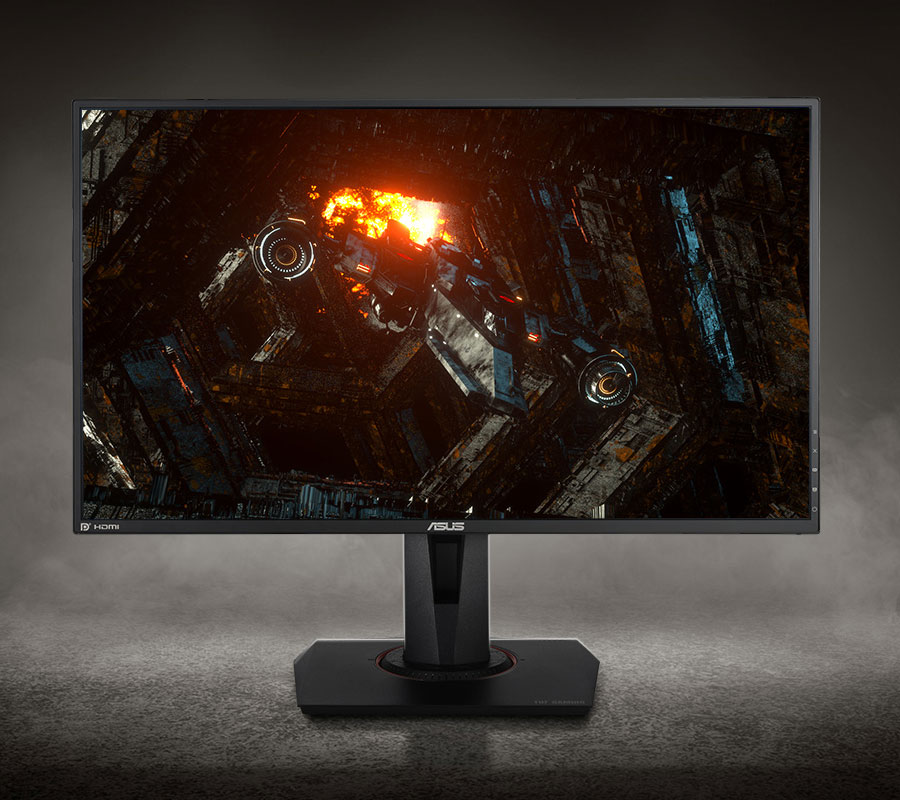 the monitor with a HD image as sreen