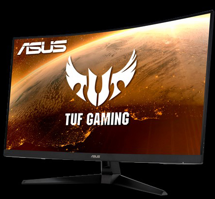 ASUS TUF Gaming VG32VQ1B Curved Gaming Monitor side view