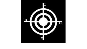 Black and white crosshairs