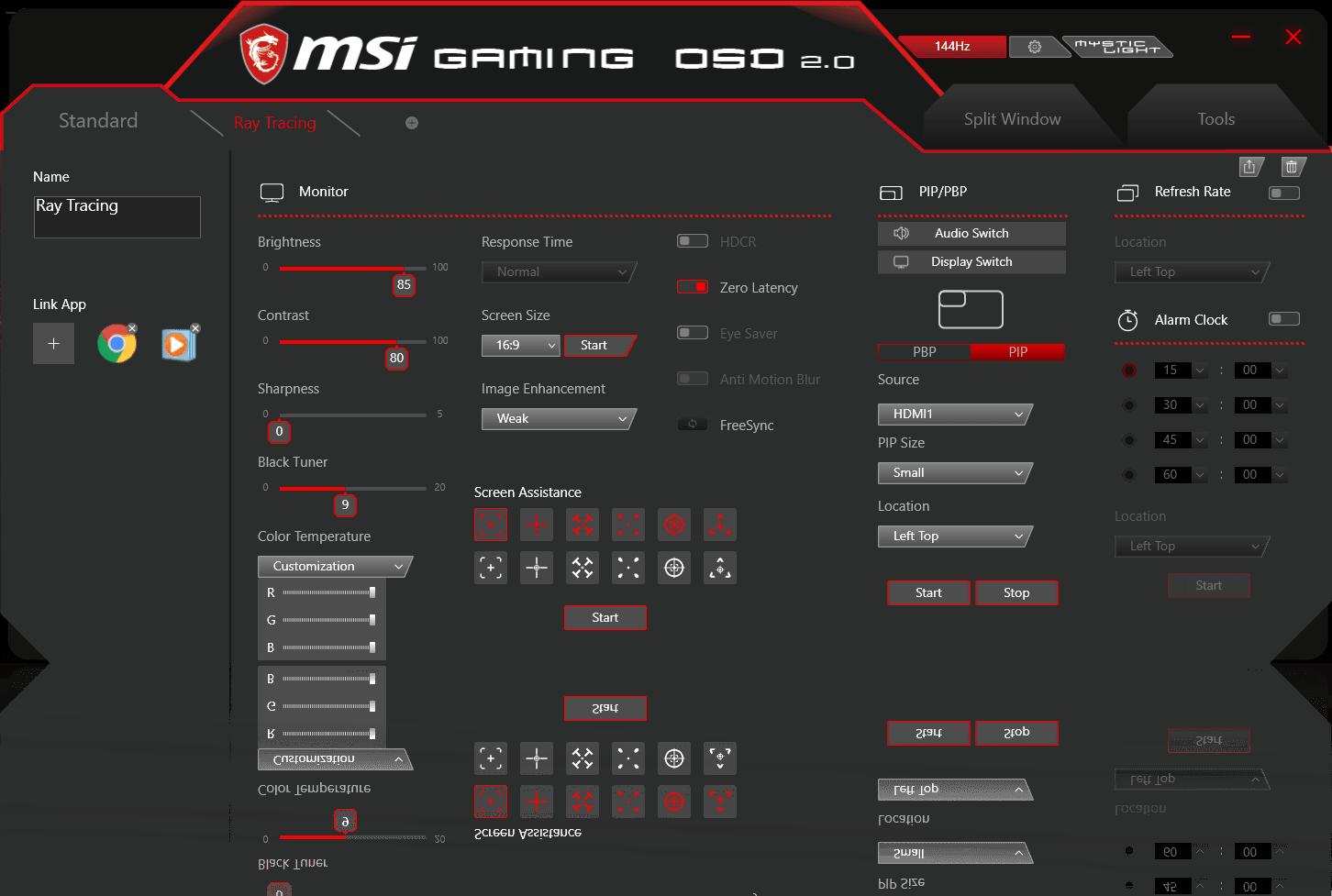 a screenshot of gaming OSD2.0