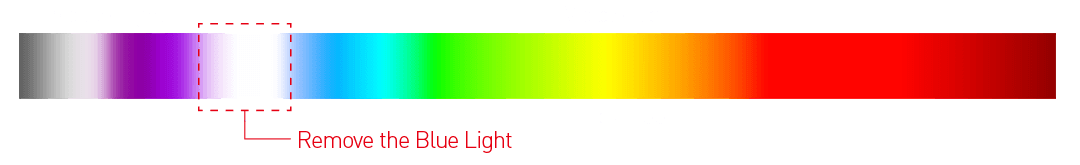 LESS BLUE LIGHT rectangle color image