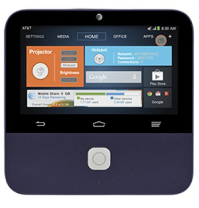 ZTE Spro 2 Smart Projector MF97B (AT&T) Android-powered 5inch touchscreen 4G LTE