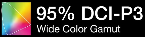 Icon - 95% DCI-P3 Wide Color Gamut