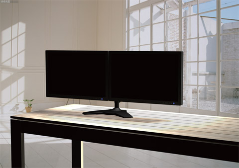 planar 997 5253 00 black dual monitor stand for lcd displays newegg ca