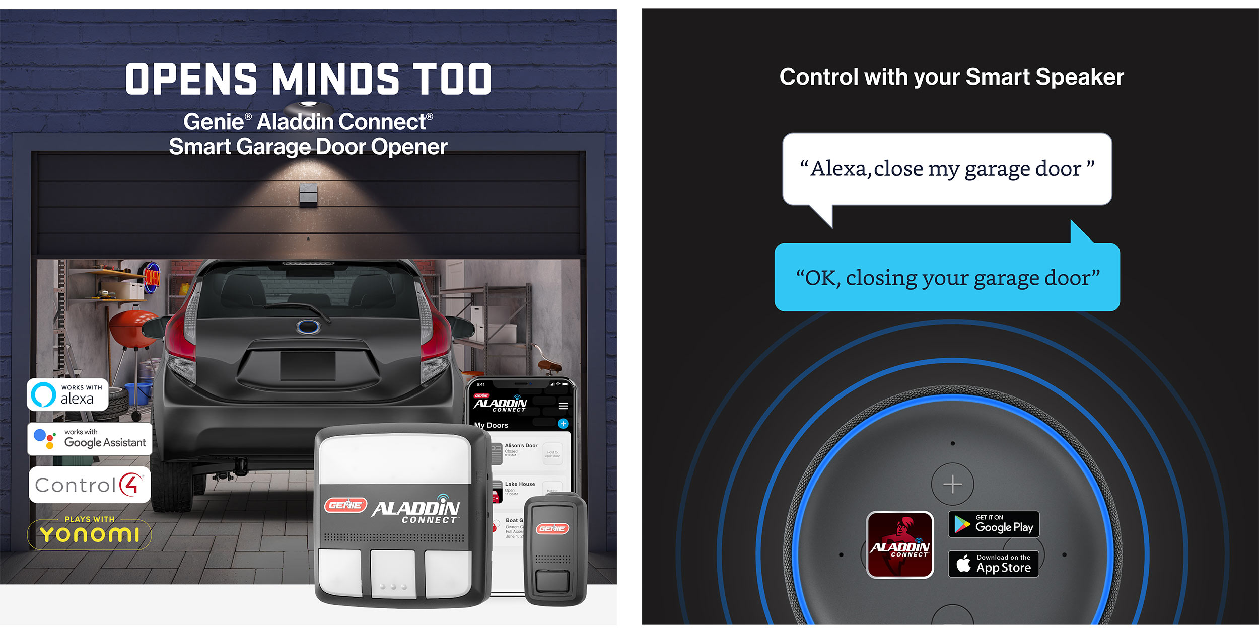 Aladdin Connect WiFi Garage Door Controller by Genie