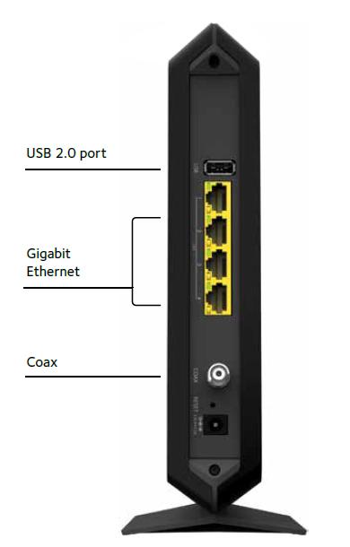 netgear c7000 100nas nighthawk docsis 3 0 cable modem. Black Bedroom Furniture Sets. Home Design Ideas
