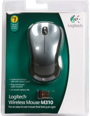 9e7e94af6cb Logitech M310 910-001675 Dark Gray 3 Buttons 1 x Wheel USB RF ...