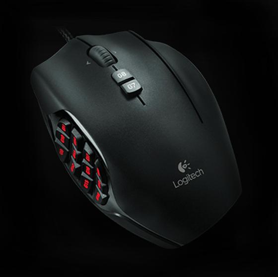 Logitech G600MMO Gaming Mouse - Black - Newegg.com