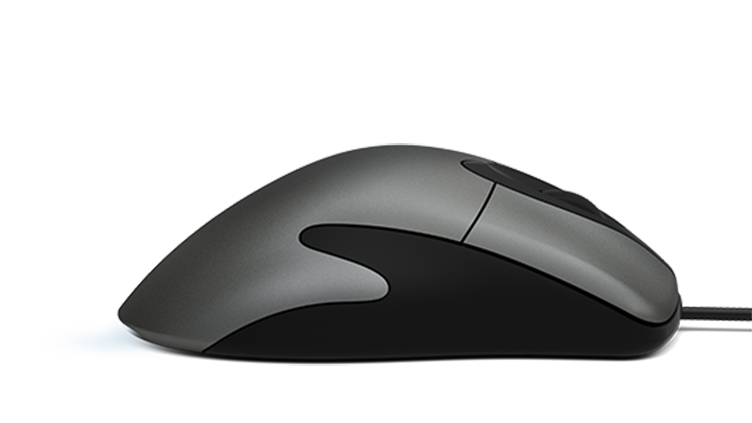 Microsoft Classic Intellimouse laying flat, facing to the right