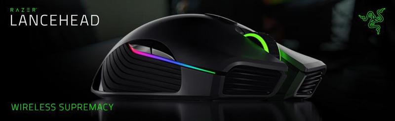 Razer Lancehead - Professional Grade Chroma Ambidextrous Wireless Gaming  Mouse - 16000 dpi - Newegg com