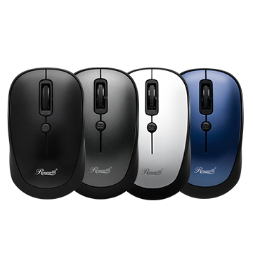 Black, Gray, White and Blue Rosewill Wireless Optical Computer Mice