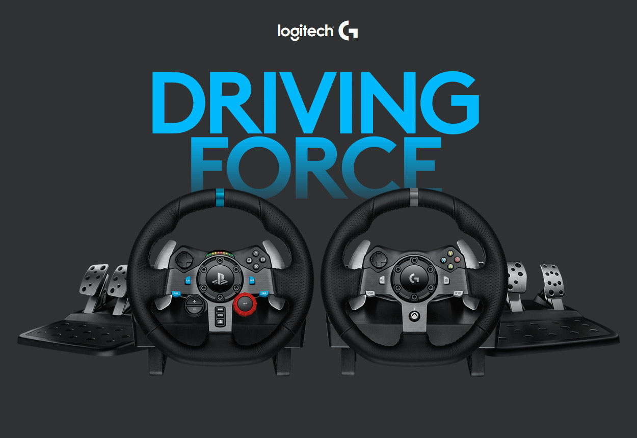 ac057da24bd Logitech G29 Driving Force Racing Wheel for PS4, PS3, PC (941-000110 ...