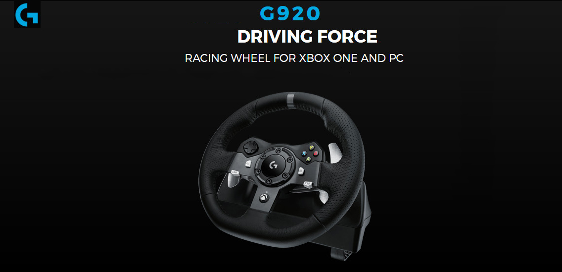 36dacceb999 Logitech G920 Driving Force Racing Wheel for Xbox One and PC (941 ...
