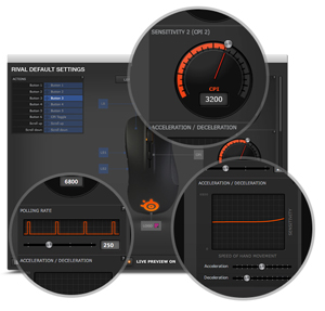 Steelseries rival 300 CS:GO Hyper beast Gaming Mouse